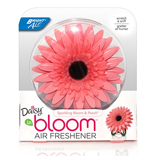 Daisy Air Freshener - Bright Air Solid Air Freshener, Daisy in Bloom, Sparkling Bloom and Peach Scent