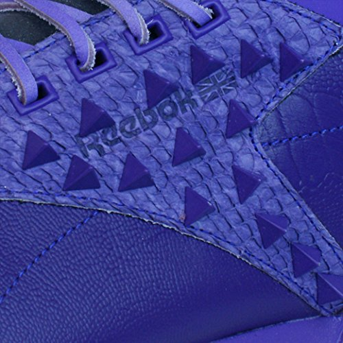 Reebok Classic Exo Fit Hi Clean PM Int Zapatillas de cuero para hombres Purple