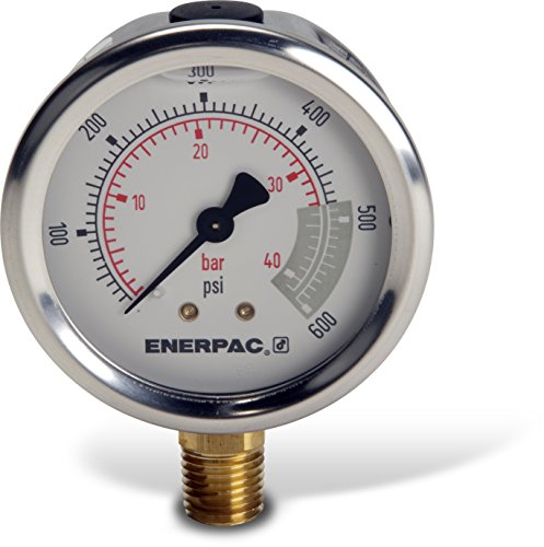 Enerpac G2513L Hydraulic Pressure Gauge with Dual 0 to 60...