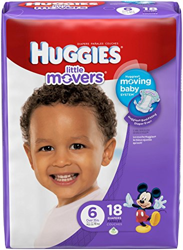 Huggies Little Movers Diapers - Size 6 - 18 ct