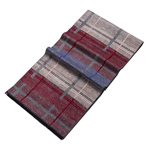 (Silk Scarf Brushed, 100% Brushed Pure Silk Men Scarfs Soft Long Fringed Shawl Warm Scarf, 18030Cm (Color : C))