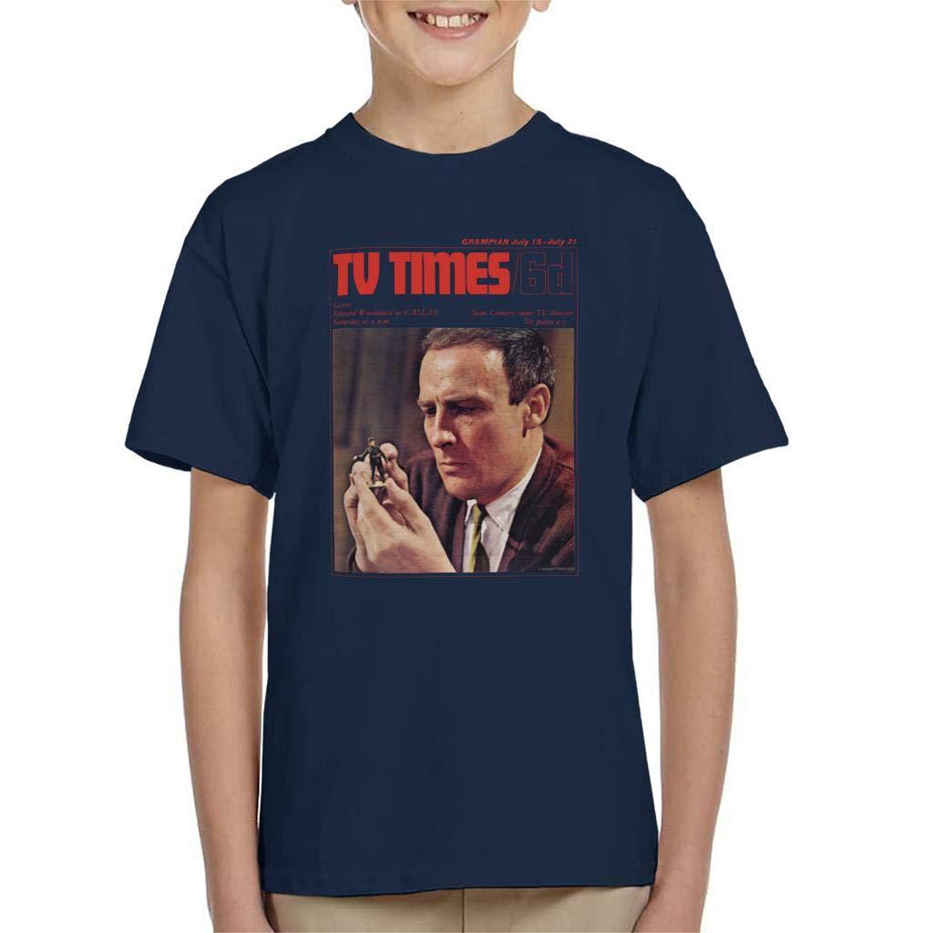 TV Times Edward Woodward 1967 Cover Kids T-Shirt
