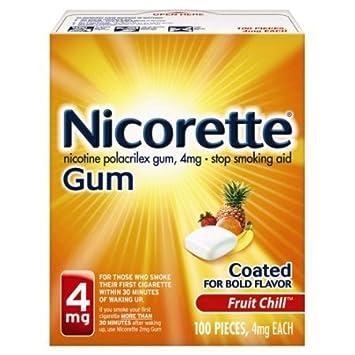 Amazon com : Nicorette Stop Smoking Aid, 4 mg, Gum, Fruit