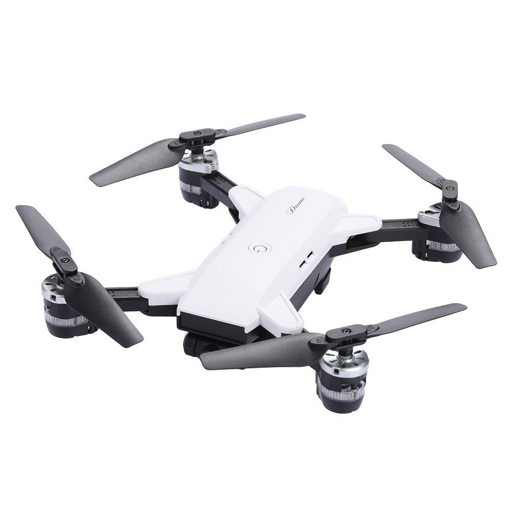 Auntwhale FPV HD Kamera Faltbare Luftbildfotografie Drohne One Key Return Headless Modus Flugzeuge WI-Fi Höhe Halten UAV gut für Anfänger großes Geschenk für Kinder