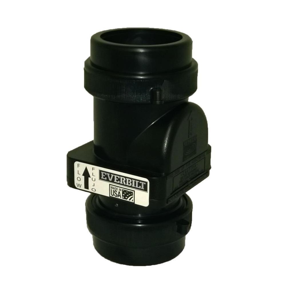 Everbilt 2 in. ABS Heavy Duty Sewage Pump Check Valve