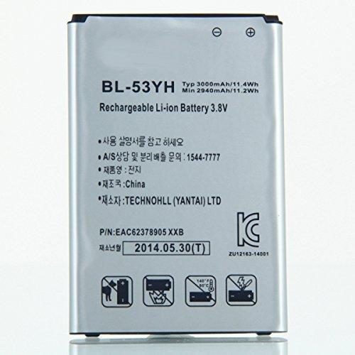 3000mAh 3.8V BL-53YH Battery for LG G3/F400/D830/D850/D851/D