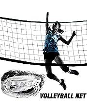 Red de voleibol Borde de lona engrosada de 4 lados PE Red de voleibol estándar duradera para la práctica de entrenamiento de competición