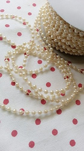 BestdealForever 72FT 4MM Pearl Garland Spool Rope Wedding Centerpiece Deco - 19 Colors Available (Cabaret Outfits)