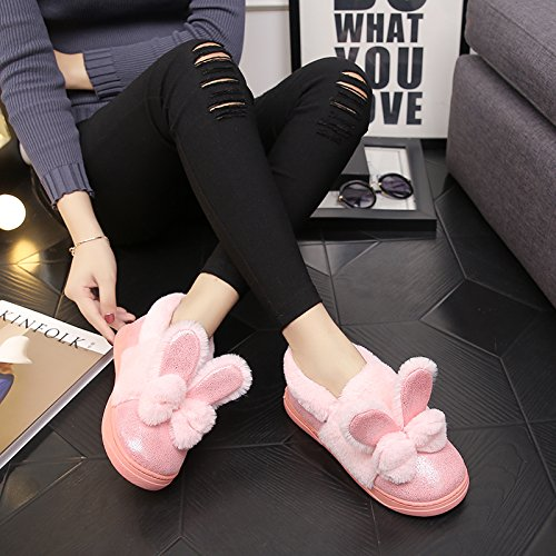 Cachemire Ladies' Chaussons coton Pink Slip LaxBa Anti Chambre tricoté q6wdxB65f