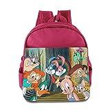 Kids Tiny Toon Adventures School Backpack Cartoon Baby Boys Girls School Bag Pink