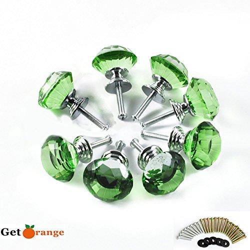 8 Pcs Crystal Glass Diamond Drawer Wardrobe Kitchen Cabinets Cupboard Door Pull Knobs - 7