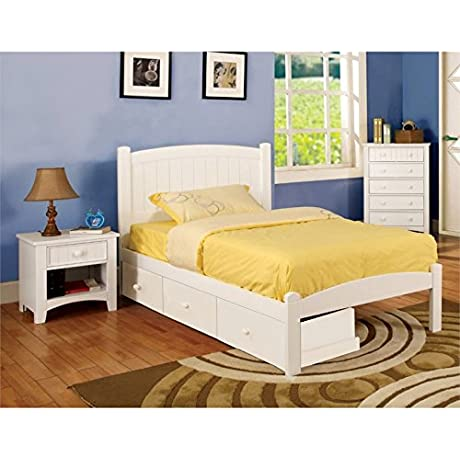 Furniture Of America Barstock 2 Piece Bedroom Set In White