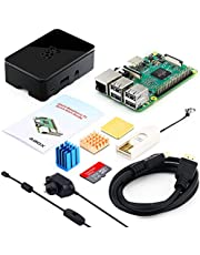 ABOX Raspberry Pi 3 B+ Model B Plus Complete Starter Kit Motherboard 32GB Samsung EVO+ SD Card NOOBS, 2.5A On/off UK Edition Power Supply, Support POE