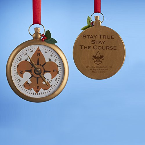 Kurt Adler Compass Ornament With Symbol OF The Boy Scouts OF America