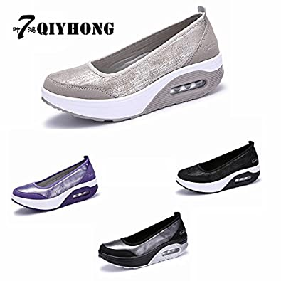 Amazon.com | Dormery Women Flat Platform Shoes Woman Moccasin Zapatos Mujer Womens Platform Slip On for Ladies Shoes Casual Flats Moccasins | Loafers ...
