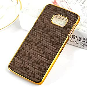 zxc Football pattern plating Phnom Penh PC Leather Back Cover Case for Samsung Samsung Galaxy S6 edge Assorted Colors , Brown