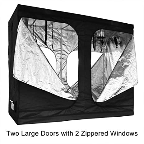 Reflective Interior Mylar Indoor Hydroponic Grow Tent Cover Two Large Door Design 96x48x78 Inches w/  sc 1 st  Amazon.com & Amazon.com : Reflective Interior Mylar Indoor Hydroponic Grow Tent ...