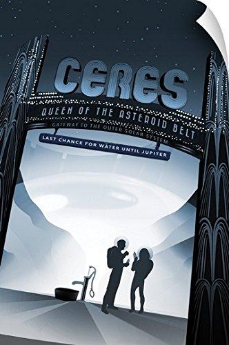 NASA Jpl Wall Peel Wall Art Print entitled Ceres - Jpl Travel Poster