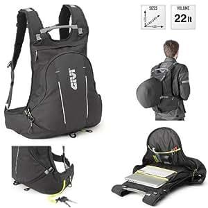 Givi ea104b expandible negro bolsillos internos volumen 22L Mochila Moto Puerta Casco: Amazon.es: Coche y moto