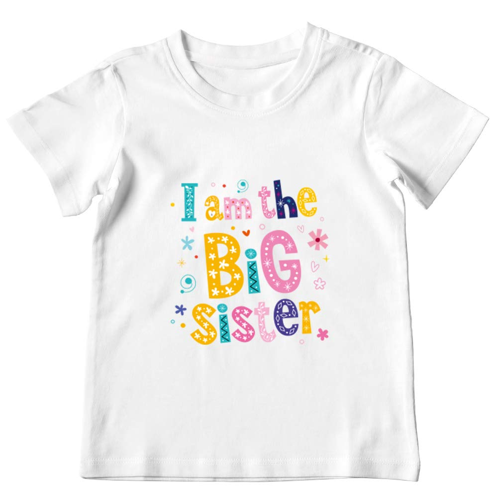 New Sibling Gifts Big Sister Outfits for Girls FANXI Big Sister Shirt for Toddler Big Sister Gifts for Little Girls