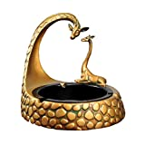 QHYT Home Decorations Desktop Ornament Decorative Cigarette Ashtray Ash Holder for Smokers Animal Pattern Giraffe Gold