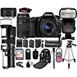 Canon EOS 80D Digital SLR Camera Bundle with Canon EF-S 18-55mm f/3.5-5.6 IS STM Lens + Professional Accessory Bundle (19 items)