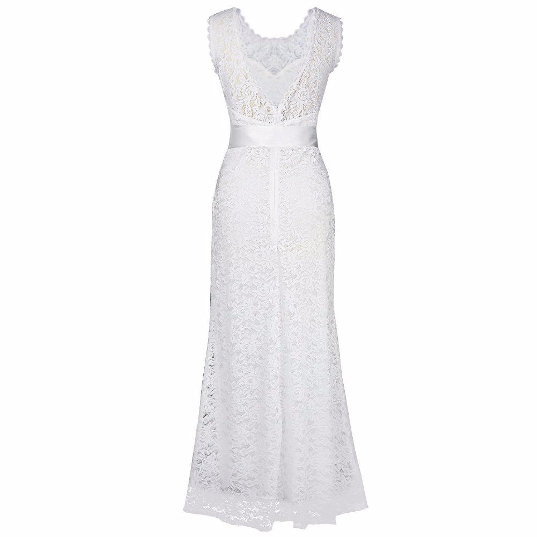 iiniim Damen Maxi Kleid Elegante Lang Kleider Cocktail Strandkleid ...