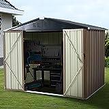 U-MAX 8' x 6' Outdoor Metal Storage Shed, Steel