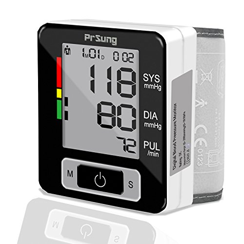 Automatic Digital Wrist Blood Pressure Heart Rate Monitor with LCD Screen (BLACK) - 1
