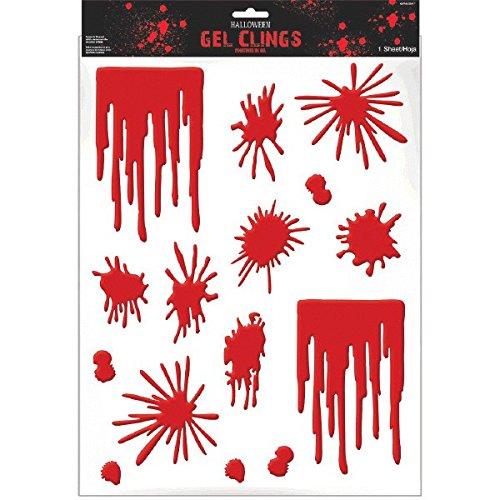 Asylum Halloween Blood Splats & Drip Gel Clings -