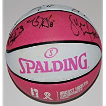 2017 SEATTLE STORM team signed *BREAST CANCER* PINK WNBA basketball W/COA - Autographed Products