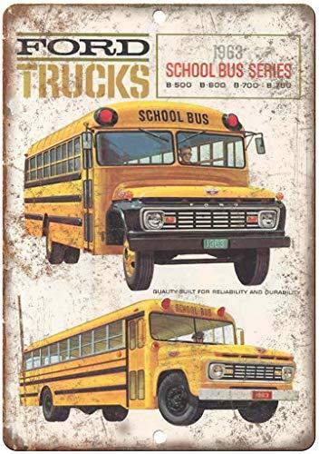 フォードトラックスクールバスシリーズ 金属板ブリキ看板警告サイン注意サイン表示パネル情報サイン金属安全サイン