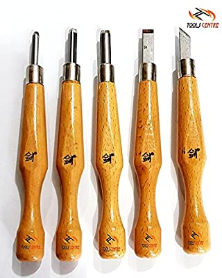 Tools Centre Engraving Carving tool Woodcut knife scorper set 5 pieces carved wood cutter