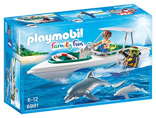 PLAYMOBIL® 6981 Diving Trip with Speedboat - FREE SHIPPING - Dolphin Speed Boat
