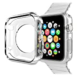 Apple Watch Case (38MM), SAVYOU Premium Soft TPU Clear Slim Protection Case Cover for Apple Watch / iWatch(Transparent)