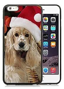 Customized Design iPhone 6 Plus Case,Christmas Dog Black iPhone 6 Plus 5.5 TPU Case 9
