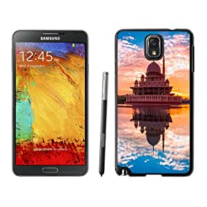Beautiful Unique Designed Cover Case For Samsung Galaxy Note 3 N900A N900V N900P N900T With Mausoleum Reflection Black Phone Case