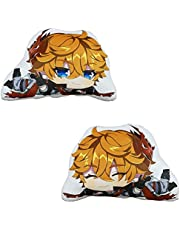 TANSHOW Genshin Impact Plush Pillow Double-Sided Printed Throw Pillow Merch 45cm x 35cm(17.7in x 13.8in) for Hugging Pillow Decorations Cosplay Birthday Gift Cute Holiday Toy