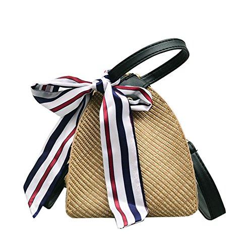 Sac à main en bambou, yunt fourre-tout sac à main sac de plage de paille sac à bandoulière demi-lune pour les femmes, sac à bandoulière tissé de voyage sac bandoulière