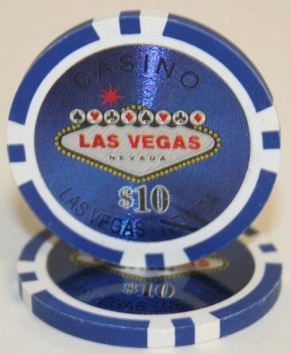 25 $10 Las Vegas 14 Gram Laser Graphic Poker Chips Las Vegas Poker Chips Laser