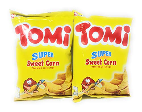 (Tomi Super Sweet Corn Flavored Corn Chips, Net Wt 110g (3.88oz) 2 Pack)