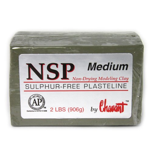 Chavant Clay - NSP Medium Green - Sculpting and Modeling Clay (40lb Case) by Chavant