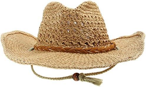 EOZY つば広 麦わら帽子 折りたたみ可 カーキ