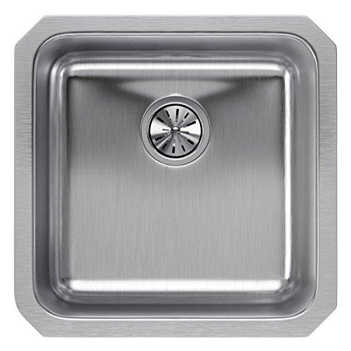 Elkay ELUH1616 Lustertone Classic Single Bowl Undermount Stainless Steel Sink ()