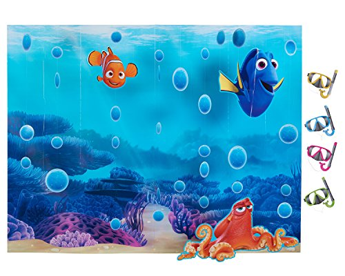 American Greetings Finding Dory Room Decorating and Photo Booth Kit (Finding Nemo Birthday Party Decorations)