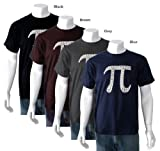 Men's Black PI Shirt Large - Created using the first 100 digits of PI