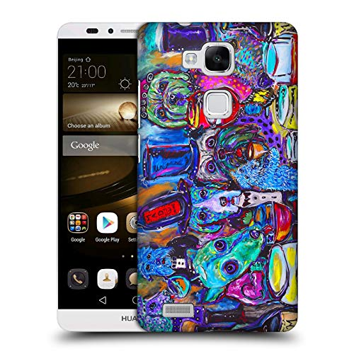 Official Mad Dog Art Gallery Whine Bar Dogs 3 Hard Back Case for Huawei Ascend Mate7