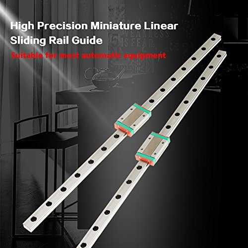 Akozon 2pcs LML12H Linear Guide Rails 400mm with MGN12H Slide Blocks