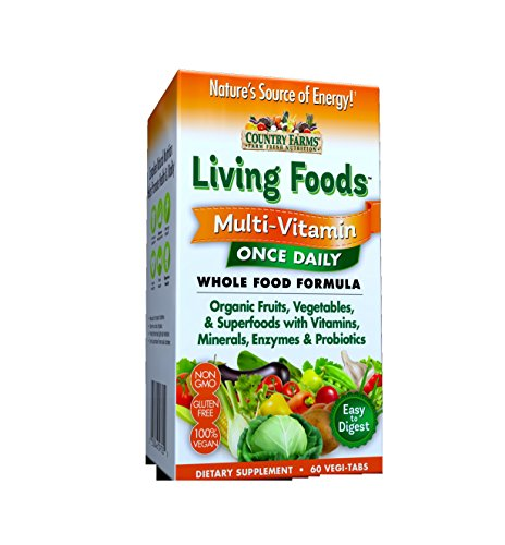- Country Farms Living Foods Multi-Vitamin, 60 Vegi-Tabs Per Box (3 Pack)