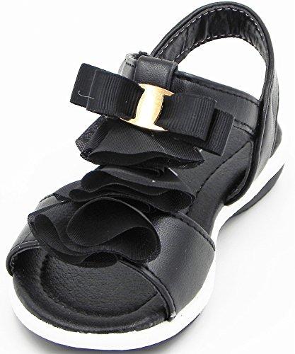 Toddler T-Strap Sandal Cute Spring Summer For Children Multi Color Strap Buckle Sandal Shoes Black 60HJ4VI
